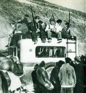 Milicianos en la Carretera
