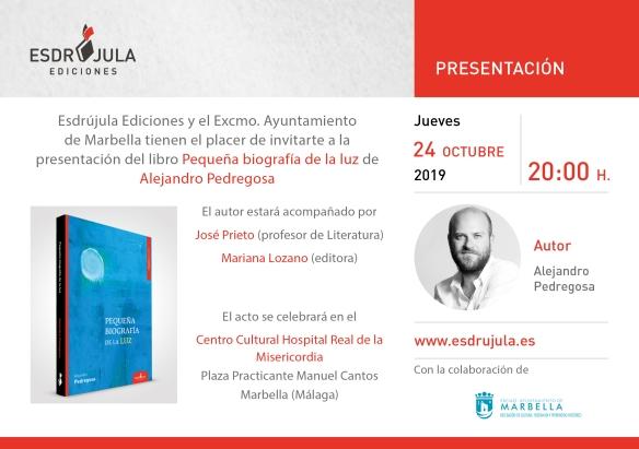 Tarjeta Presentacion pequeñabiografía marbella
